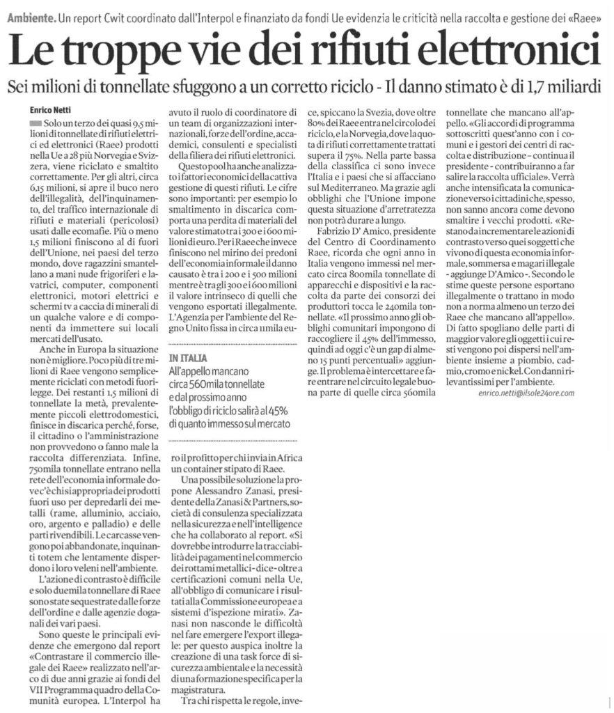 Le troppe vie dei rifiuti elettronici